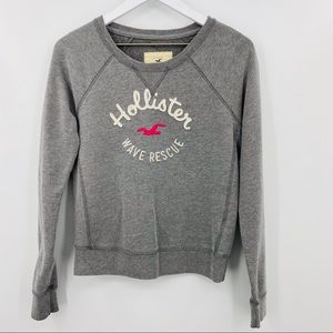 Hollister Crew Neck Hoodie Gray Size Small